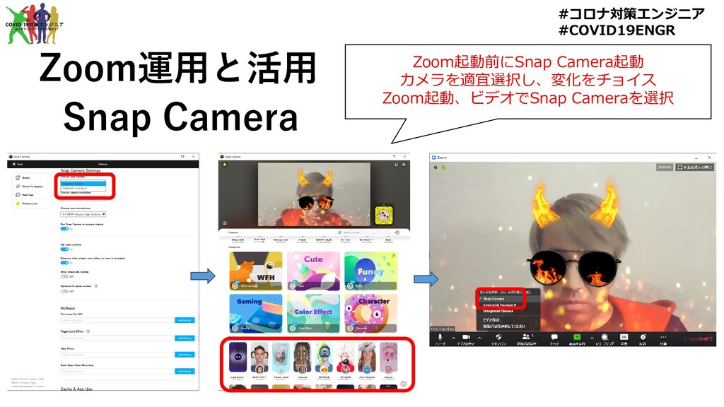 Zoom運用と活用 Snap Camera #コロナ対策エンジニア #COVID19ENGR ...