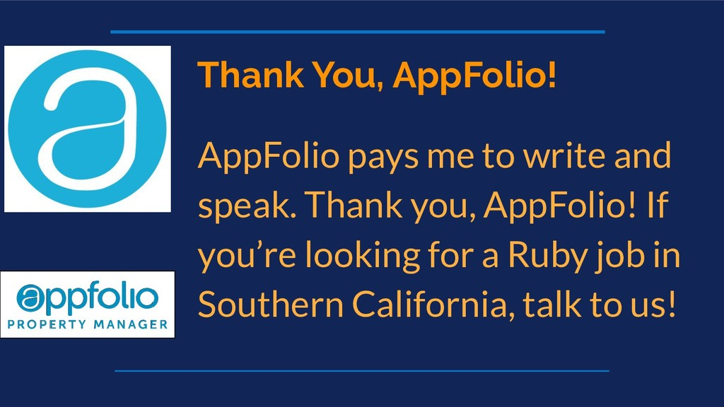Thank You, AppFolio! AppFolio pays me to write ...