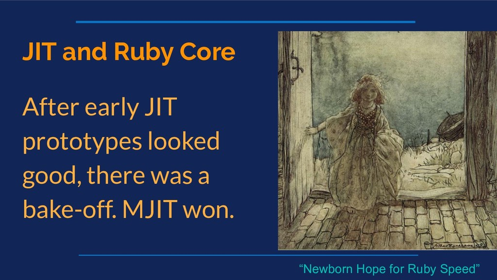 JIT and Ruby Core After early JIT prototypes lo...