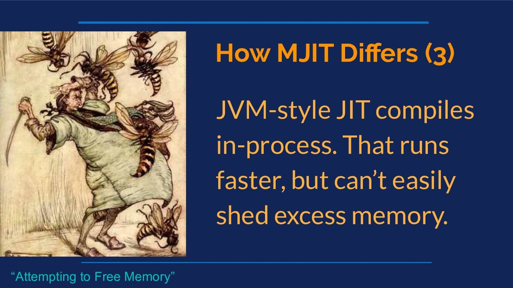 How MJIT Differs (3) JVM-style JIT compiles in-p...