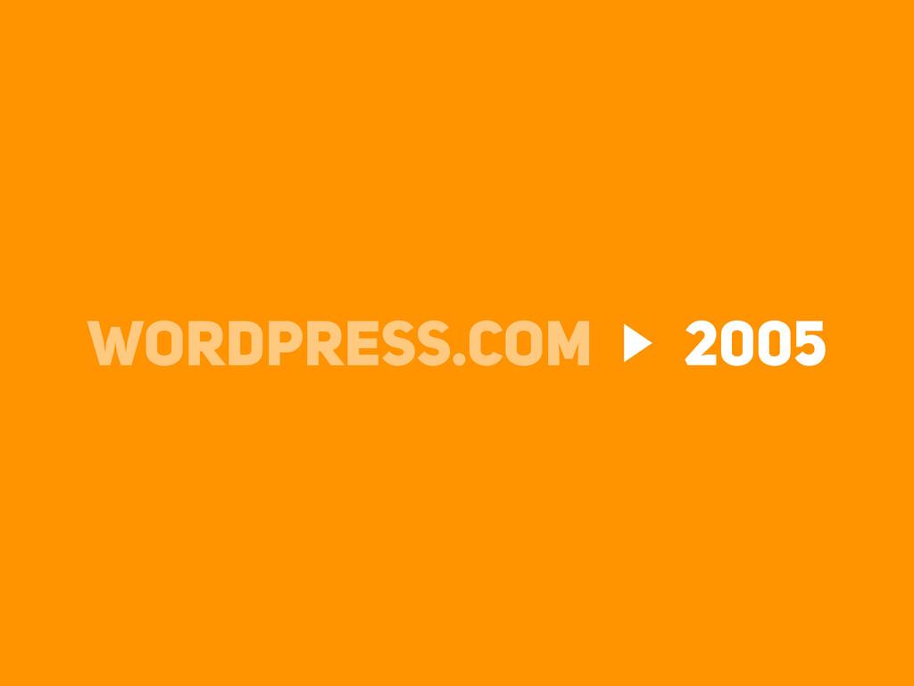 WORDPRESS.COM 2005