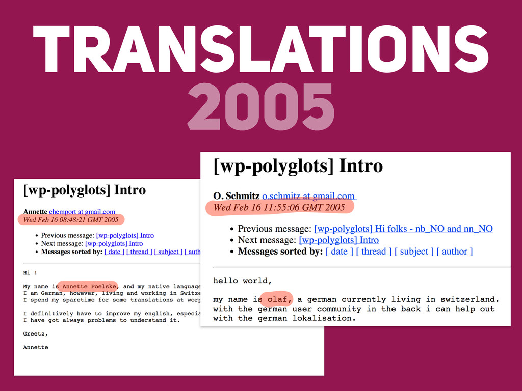 TRANSLATIONS 2005