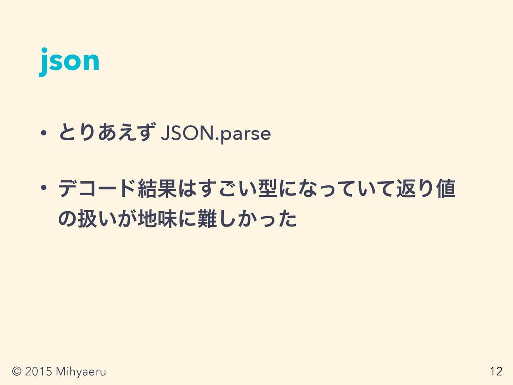 © 2015 Mihyaeru json • ͱΓ͋͑ͣ JSON.parse • σίʔυ݁...