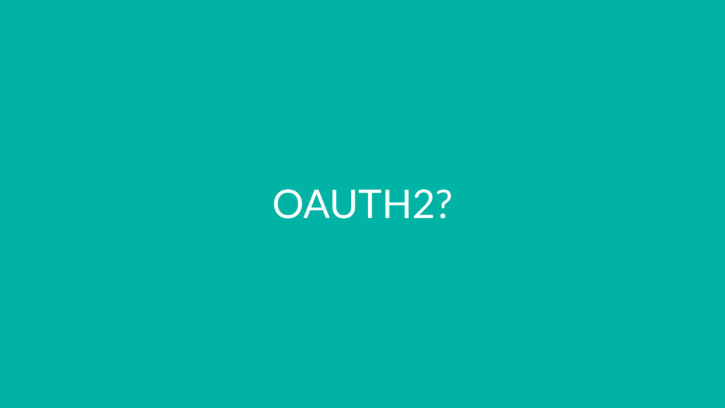 OAUTH2?