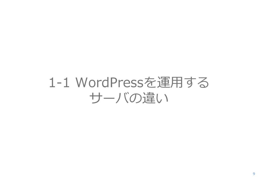 1-1 WordPressを運用する サーバの違い 9