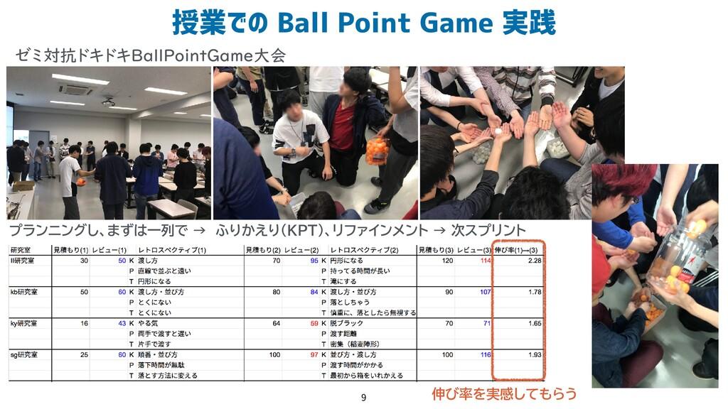 授業での Ball Point Game 実践 9 ゼミ対抗ドキドキBallPointGame...