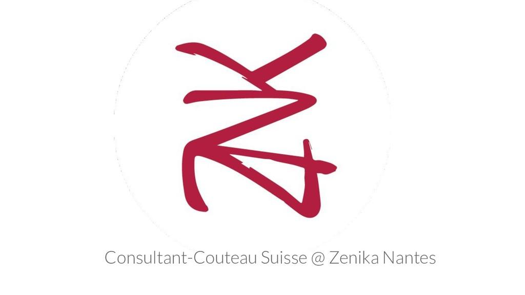 Consultant-Couteau Suisse @ Zenika Nantes