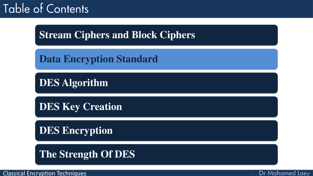 Classical Encryption Techniques Stream Ciphers ...