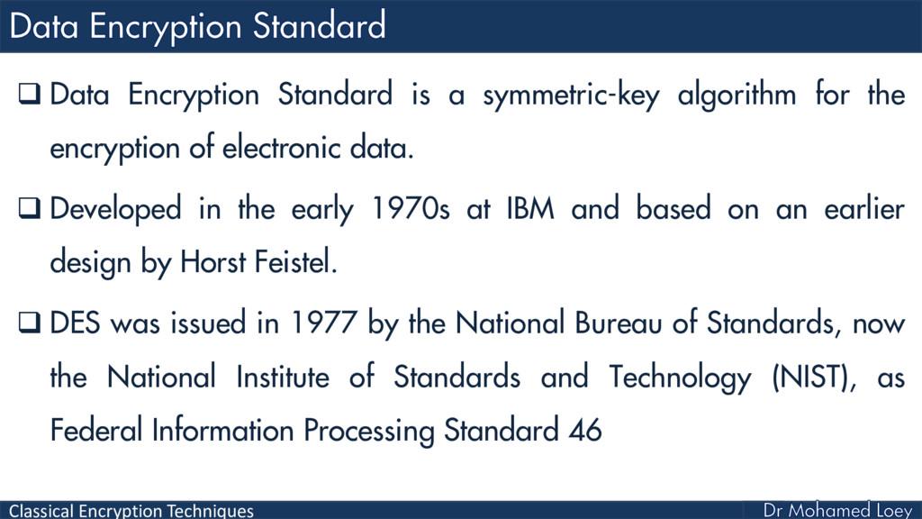 Classical Encryption Techniques  Data Encrypti...