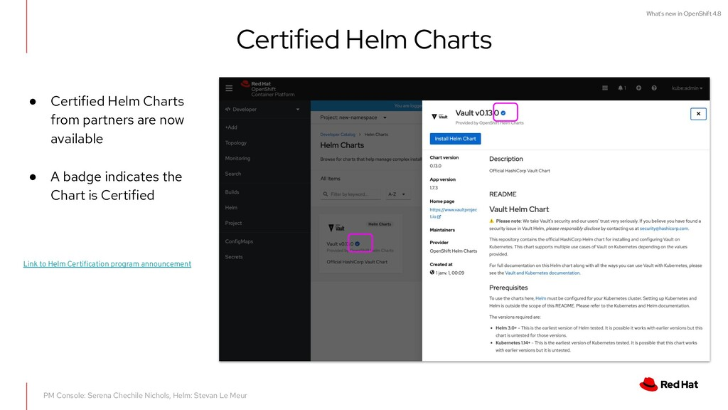 What's new in OpenShift 4.8 Certified Helm Char...