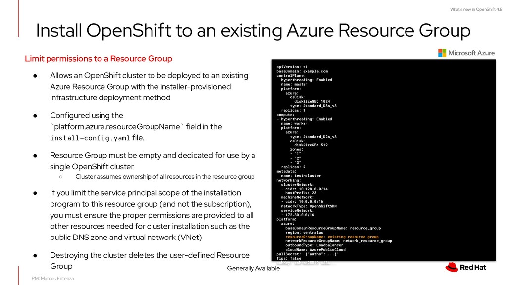 What's new in OpenShift 4.8 Install OpenShift t...