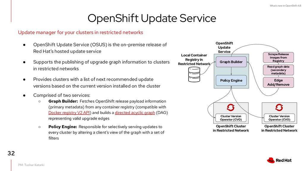 What's new in OpenShift 4.8 PM: Tushar Katarki ...