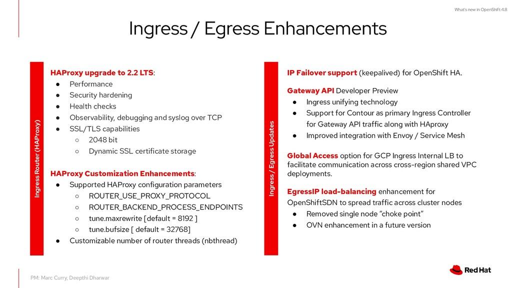 What's new in OpenShift 4.8 Ingress / Egress En...