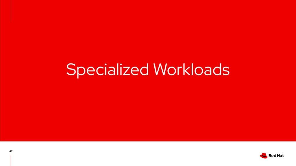 Specialized Workloads 47