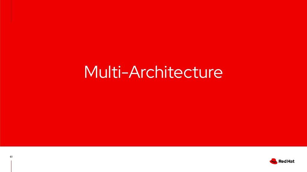 Multi-Architecture 61