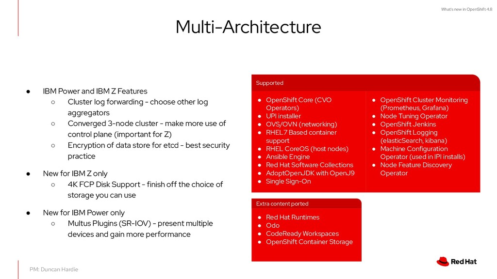 What's new in OpenShift 4.8 Multi-Architecture ...