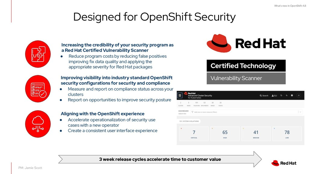 What's new in OpenShift 4.8 Designed for OpenSh...