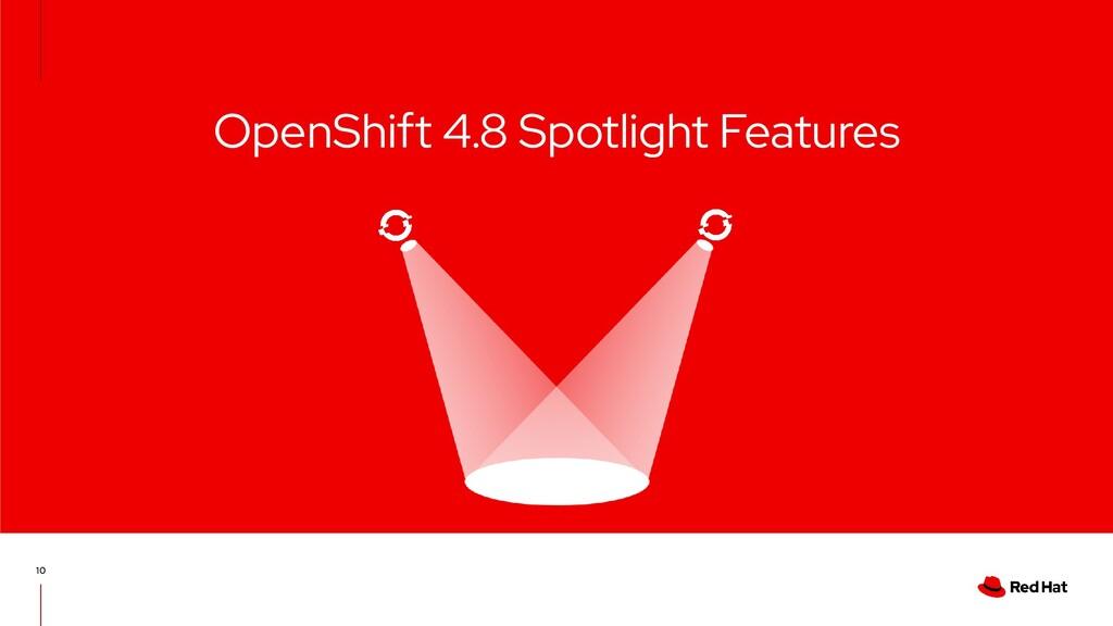 OpenShift 4.8 Spotlight Features 10