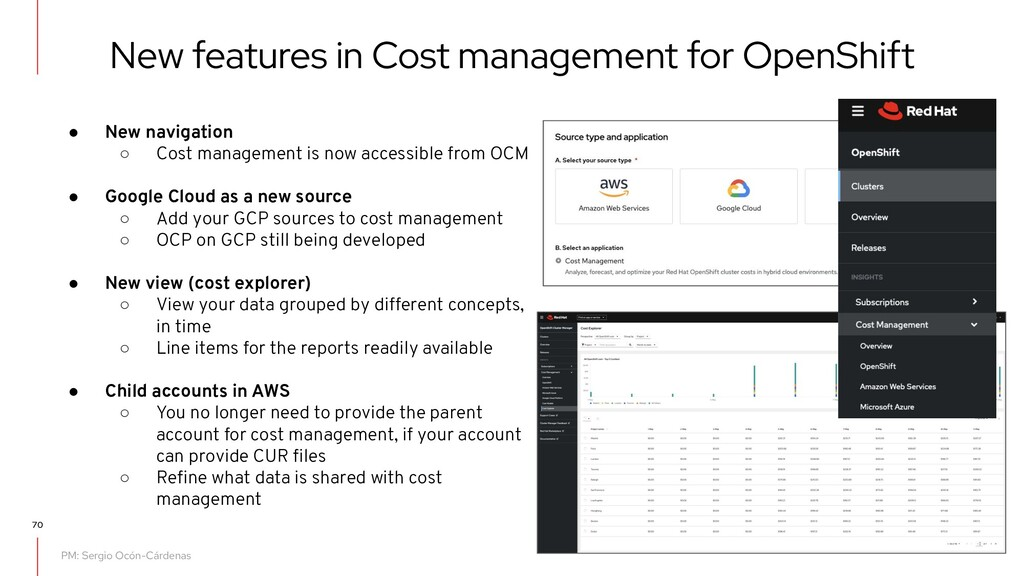 New features in Cost management for OpenShift ●...