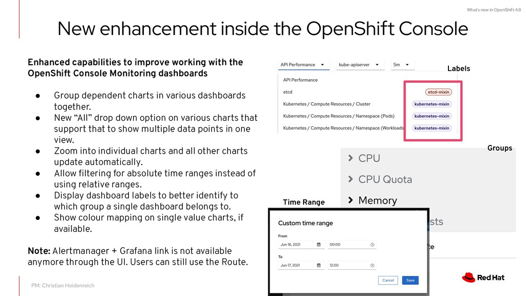 What's new in OpenShift 4.8 New enhancement ins...