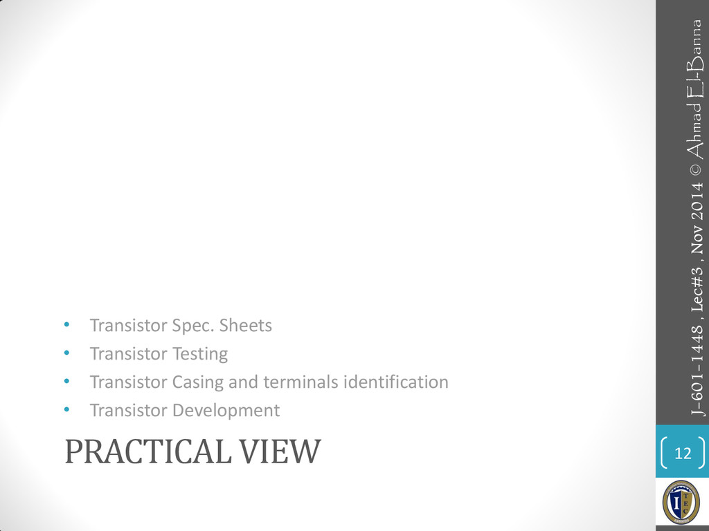 PRACTICAL VIEW • Transistor Spec. Sheets • Tran...