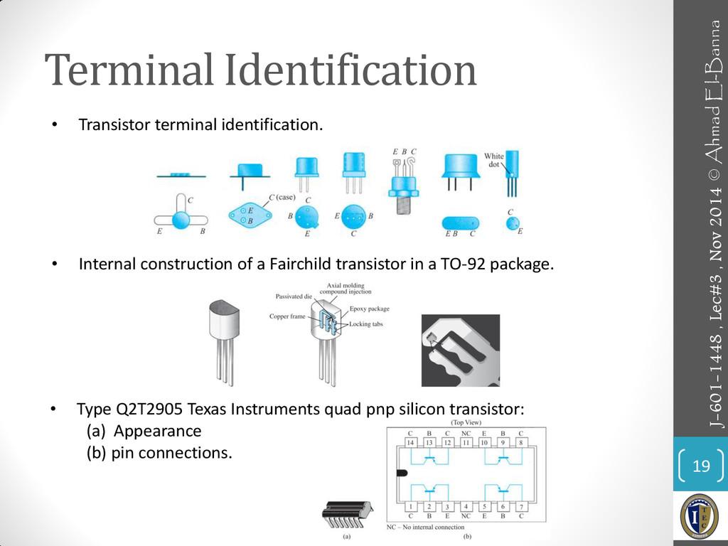 Terminal Identification 19 • Transistor termina...
