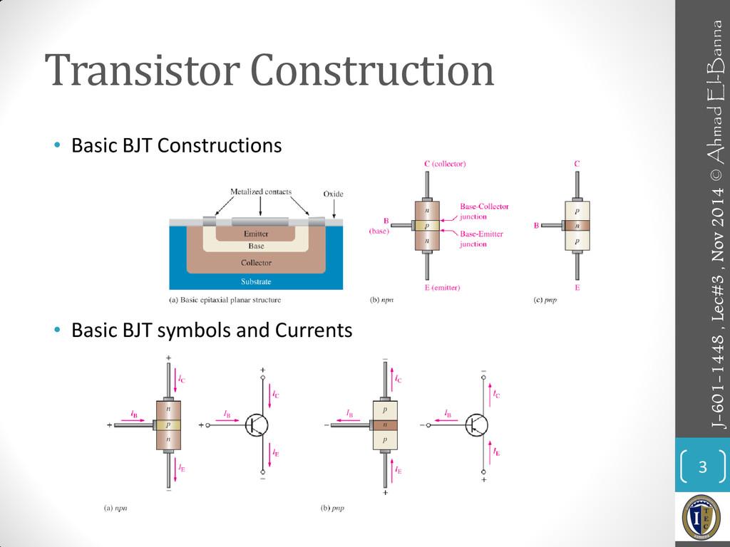 Transistor Construction • Basic BJT Constructio...