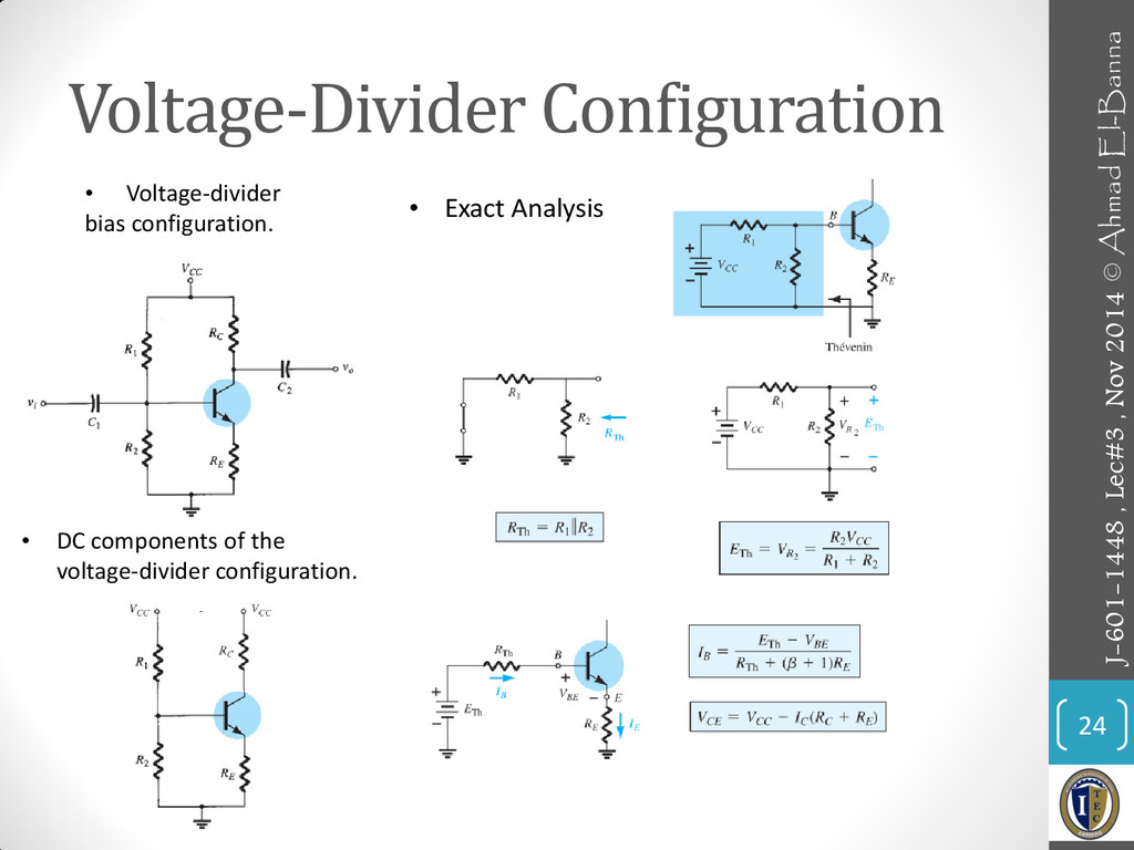 Voltage-Divider Configuration 24 • Exact Analys...