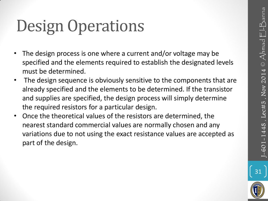 Design Operations 31 • The design process is on...