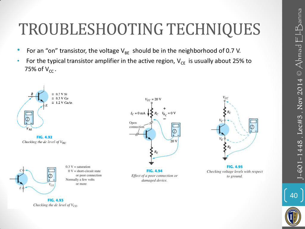 """TROUBLESHOOTING TECHNIQUES • For an """"on"""" transi..."""