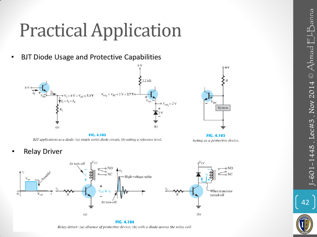 Practical Application 42 • BJT Diode Usage and ...