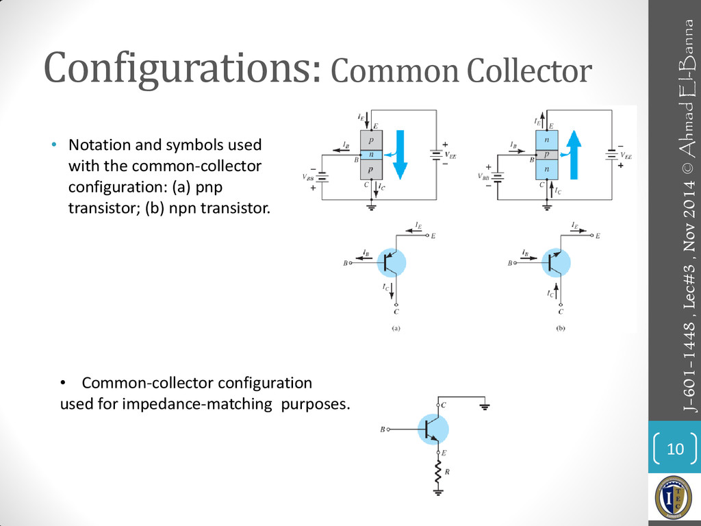 Configurations: Common Collector 10 • Notation ...