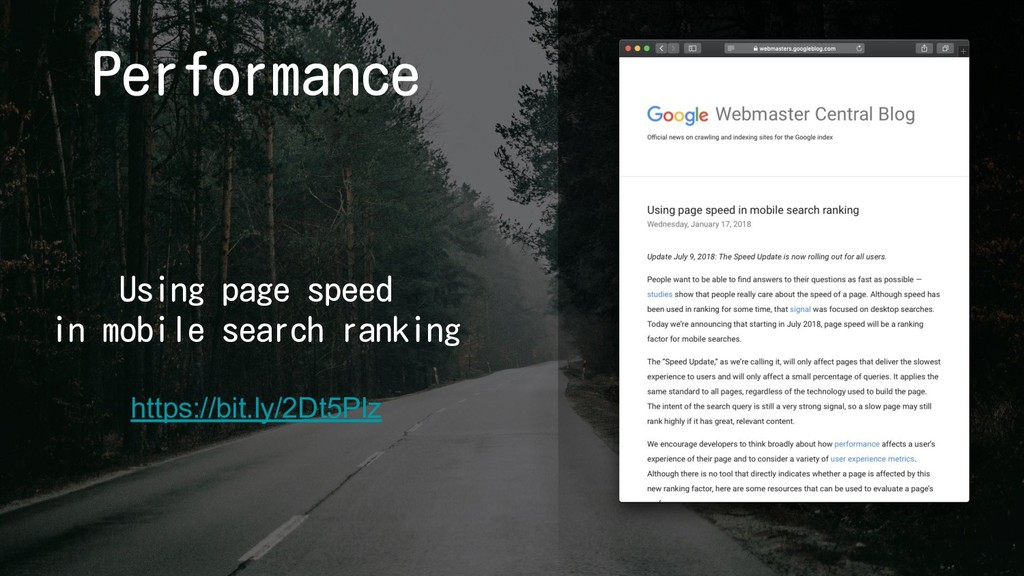 Performance Using page speed in mobile search r...