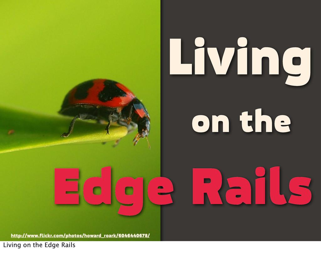 Living on the Edge Rails http://www.flickr.com/...