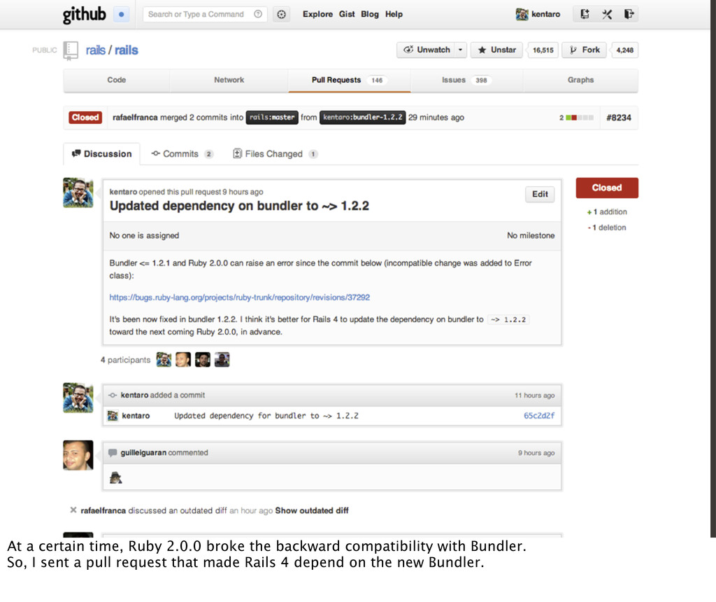 At a certain time, Ruby 2.0.0 broke the backwar...