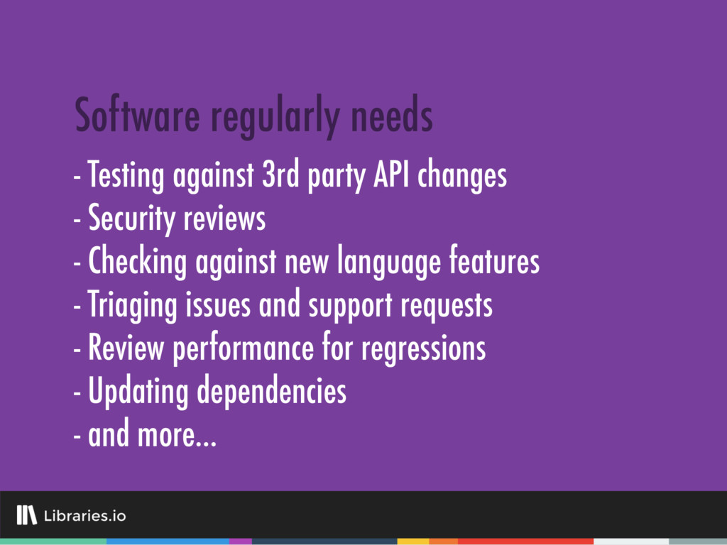 - Testing against 3rd party API changes - Secur...