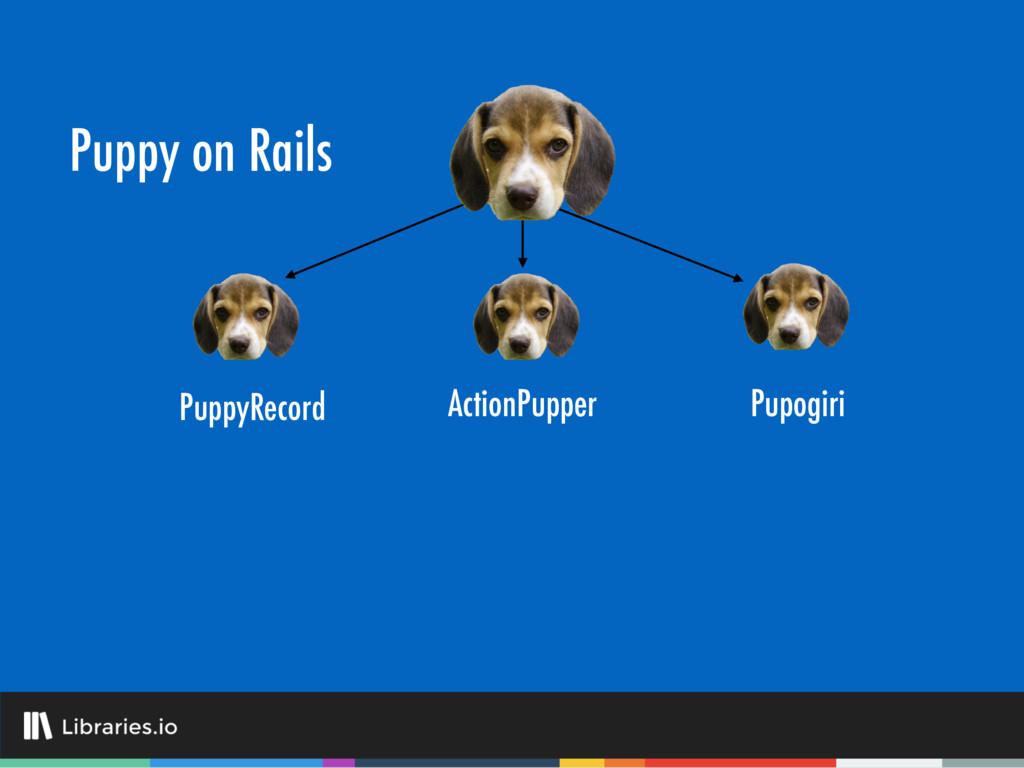 Puppy on Rails PuppyRecord Pupogiri ActionPupper
