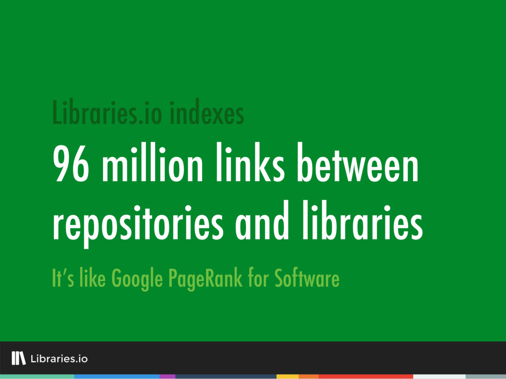 96 million links between repositories and libra...