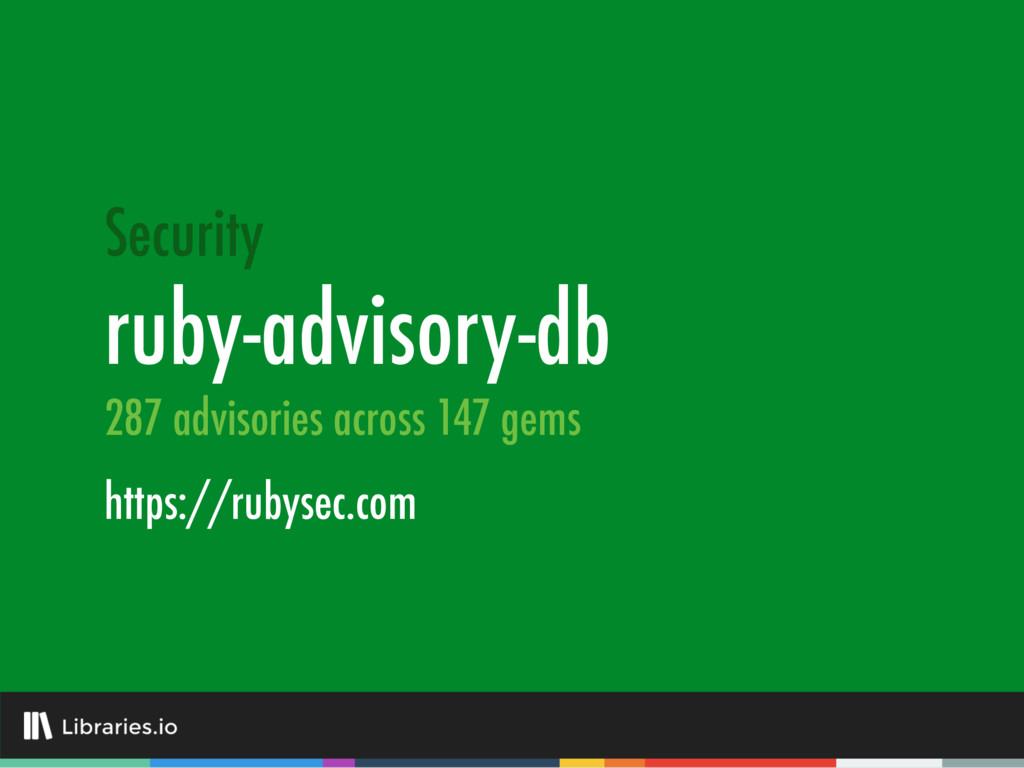 ruby-advisory-db https://rubysec.com Security 2...