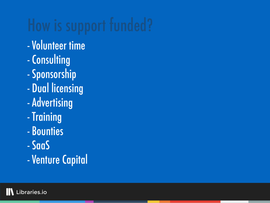 - Volunteer time - Consulting - Sponsorship - D...