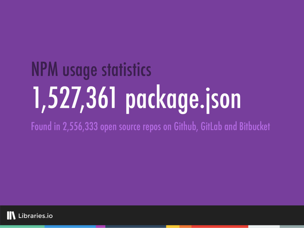 1,527,361 package.json NPM usage statistics Fou...