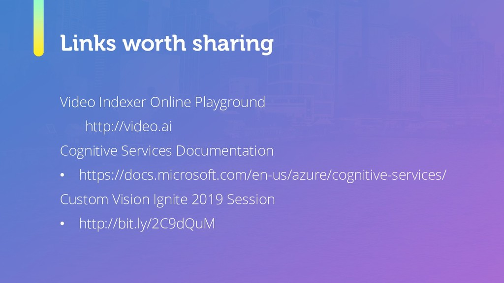 Links worth sharing Video Indexer Online Playgr...