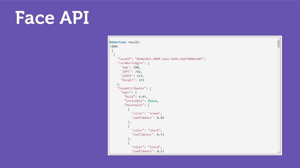 Face API