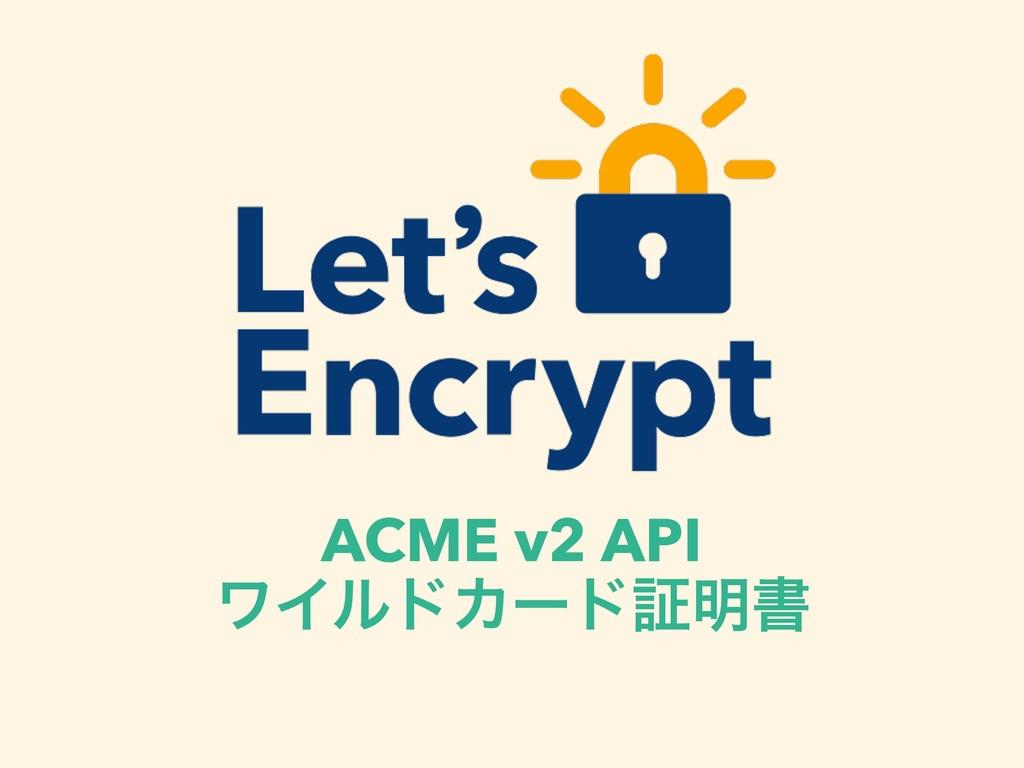 ACME v2 API ϫΠϧυΧʔυূ໌ॻ