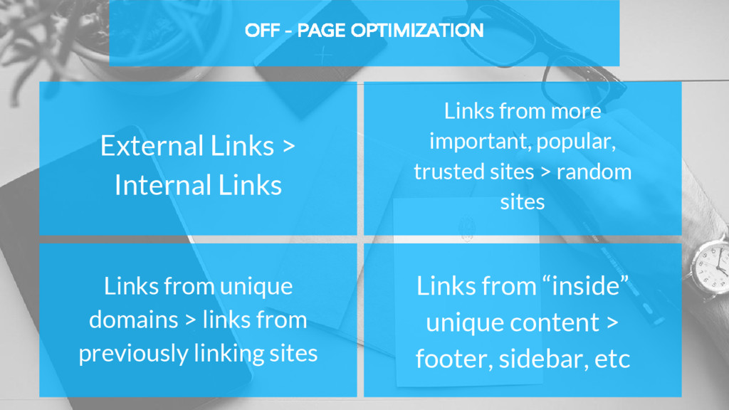 OFF - PAGE OPTIMIZATION External Links > Intern...