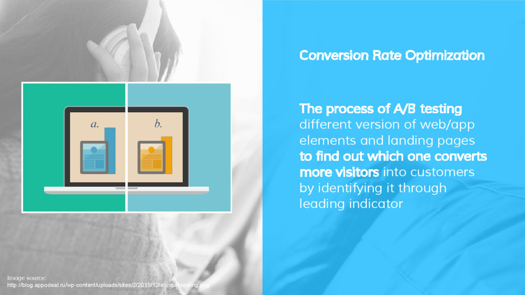 Conversion Rate Optimization The process of A/B...