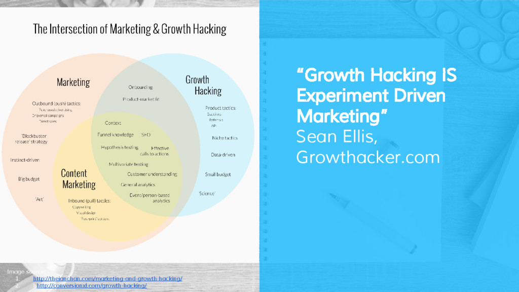 """Growth Hacking IS Experiment Driven Marketing""..."