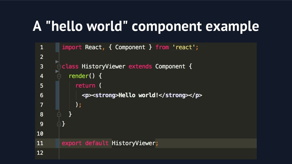 "A ""hello world"" component example"