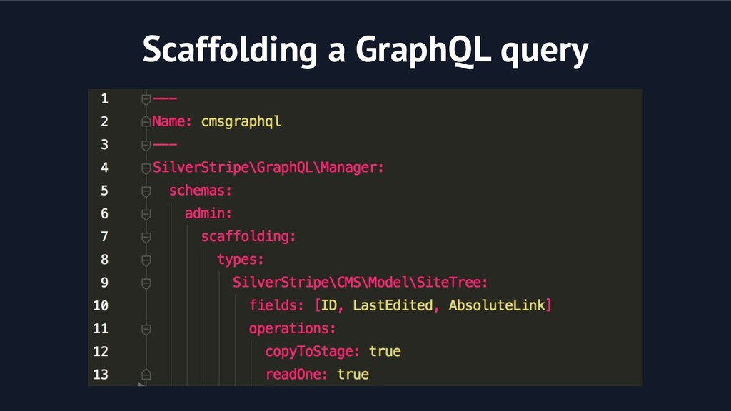 Scaffolding a GraphQL query