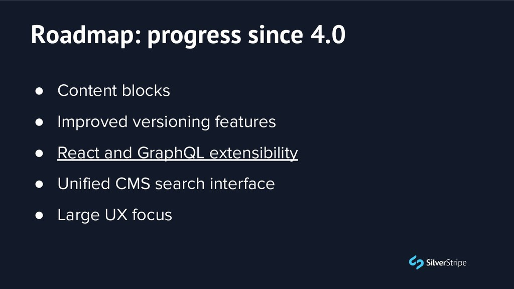 ● Content blocks ● Improved versioning features...